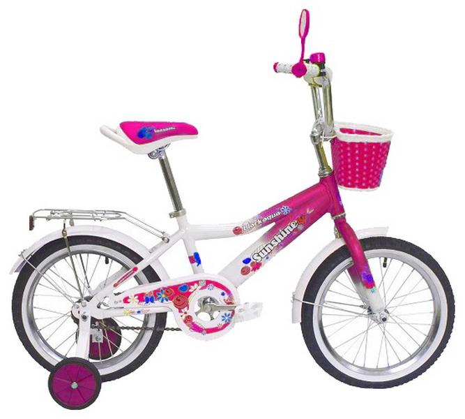 """Велосипед 14"""" Black Aqua Sunshine KG1422 алюминиевая рама, малиновый"""