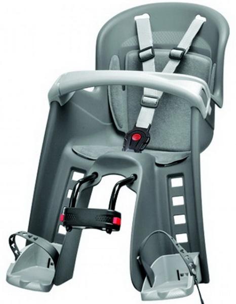 Седло (детское кресло), крепление на раму, Polisport, Bilby Jr, 15кг, серебристо-серое (PLS8632800003)   a