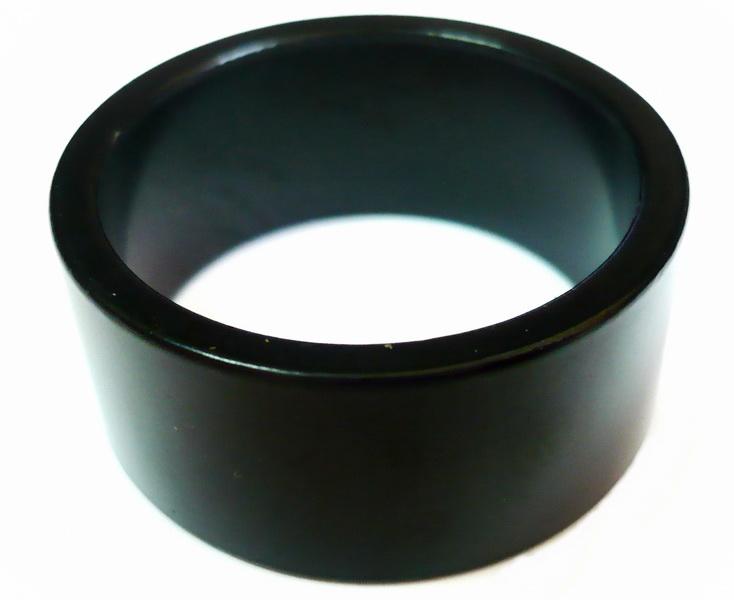 """Кольцо рулевой колонки 1-1/8"""" Н=15мм Kenli KL-4021A AL, чёрное   а"""