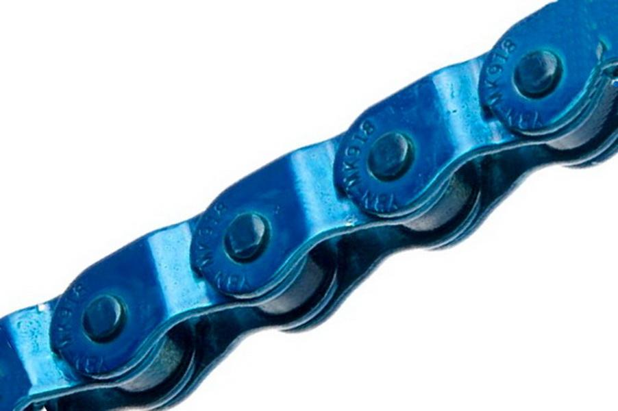 """Цeпь BMX 100зв.1/2""""х1/8"""" YBN MK918, Half-Link, голубая   а"""