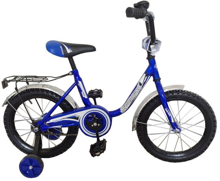 """Велосипед 14"""" Мультяшка XB1404 синий, 2017г."""
