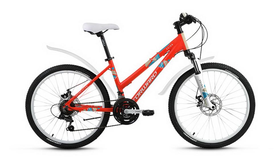 """Велосипед 24"""" Forward Seido 2.0 18ск, алюминиевая рама, Disc, красный"""