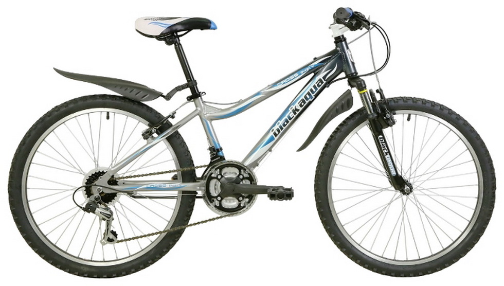 "Велосипед 24"" Black Aqua Cross 2421 V GW-B222 18ск, алюминиевая рама, V-br, серо-синий"