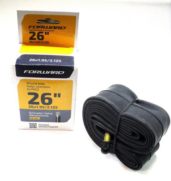 "Велокамера 26""х1.95/2.125 (559-50/57) A/V-48мм Paco (бутил) ITB26 (NTS26BTFYD01)"