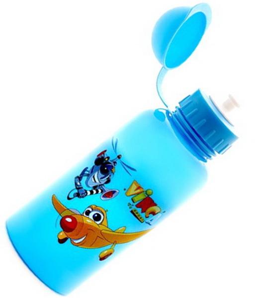 """Фляга  (500ml) Vinca Sport, VSB 03, детская, с колпачком, голубая, рисунок """"вертолетики"""""""
