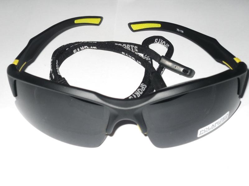 Велоформа Очки Cigna XS-108, оправа чёрно-жёлтая, линзы поликарбонат UV400 - серые полиризованные + оправа для диоптрий