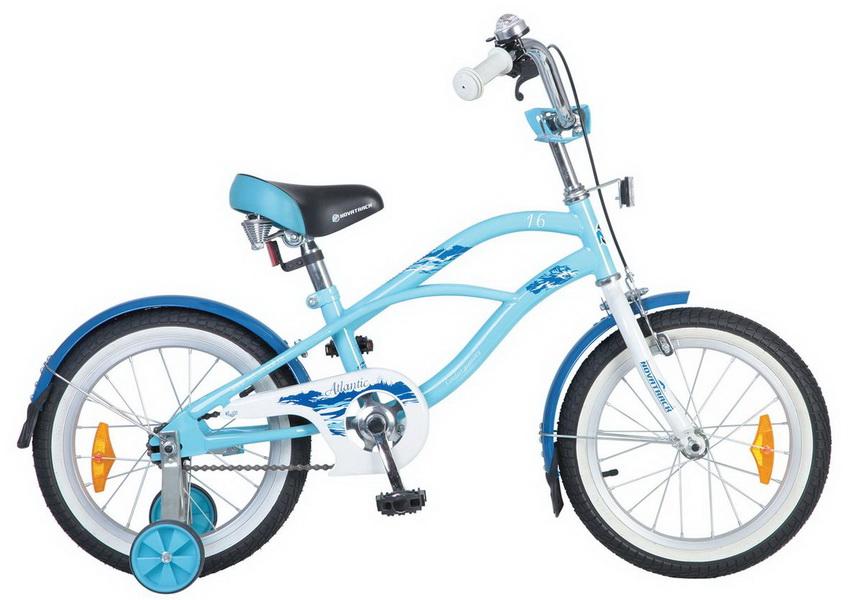 """Велосипед 16"""" Novatrack Atlantic cruiser голубой"""
