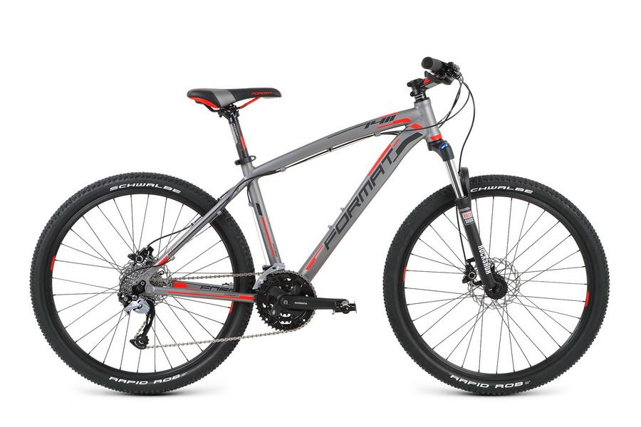 """Велосипед 26"""" Format 1411 (L"""") 27ск, AL, Disc, серый, модель 2016  **"""