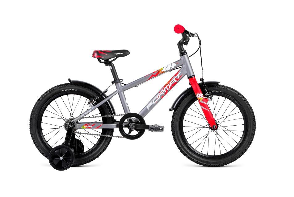 "Велосипед 18"" Format Kids 1ск, AL, V-br, серый, модель 2018"