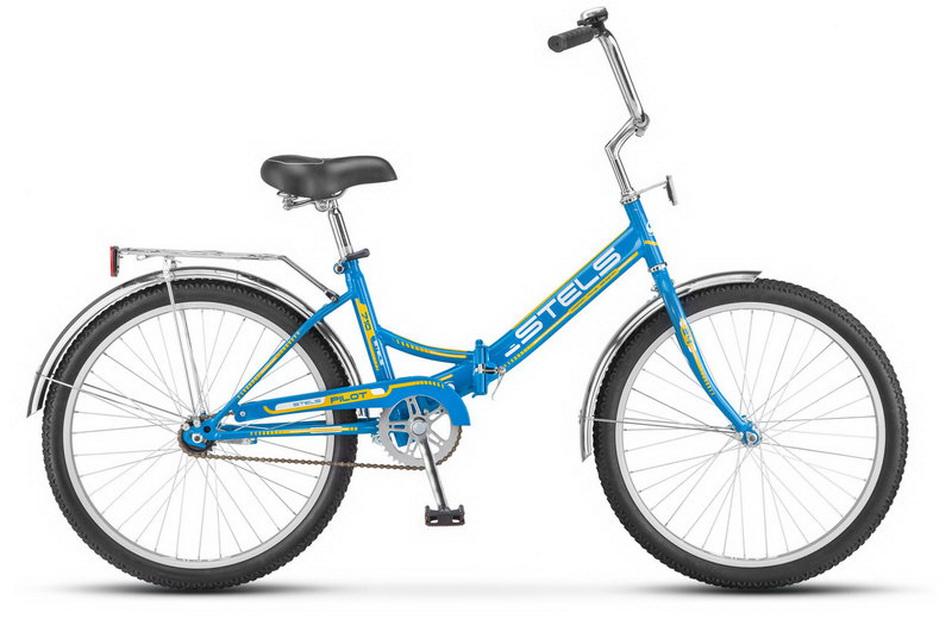 """Велосипед 24"""" Stels Pilot 710 складной, St, светло-синий (Э), 2018г."""