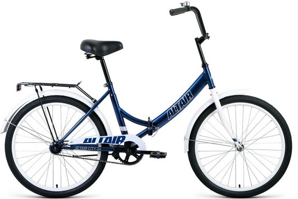 """Велосипед 24"""" Altair City, 1ск, складной, St, сине-серый 2021г"""