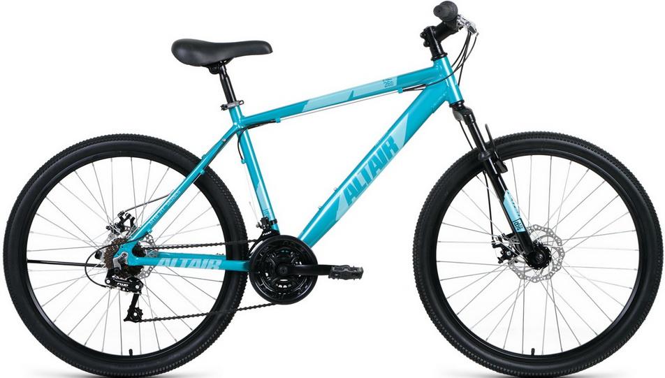 """Велосипед 26"""" Altair MTB HT AL (18"""") 21ск, AL, Disc, бирюзовый 2021г  скидка 20%"""