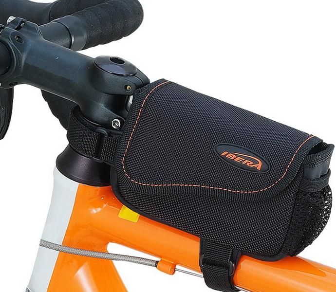 Сумка на раму Ibera, IB-ТB4, 140х30х90мм, чёрно-оранжевая   а  **
