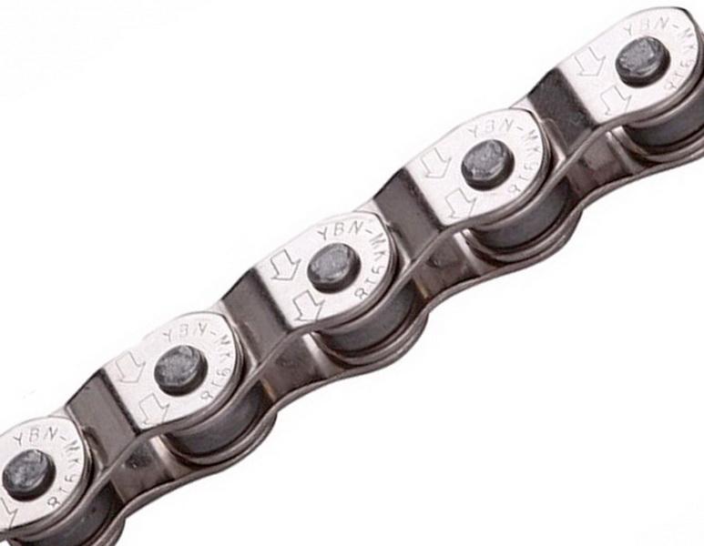 "Цeпь BMX 100зв.1/2""х1/8"" YBN MK918, Half-Link, серебристая   а"