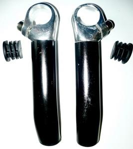 Рога 408169 L130мм, AL, кривые, чёрные