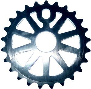 """Звезда BMX 25Т 1/2""""х1/8"""" 5мм Jien Yuan WF65 штампованная, AL-6061, чёрная   а"""