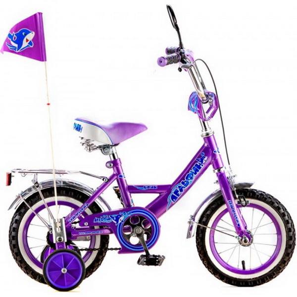 """Велосипед 12"""" Black Aqua Дельфин KG1205 сиреневый"""