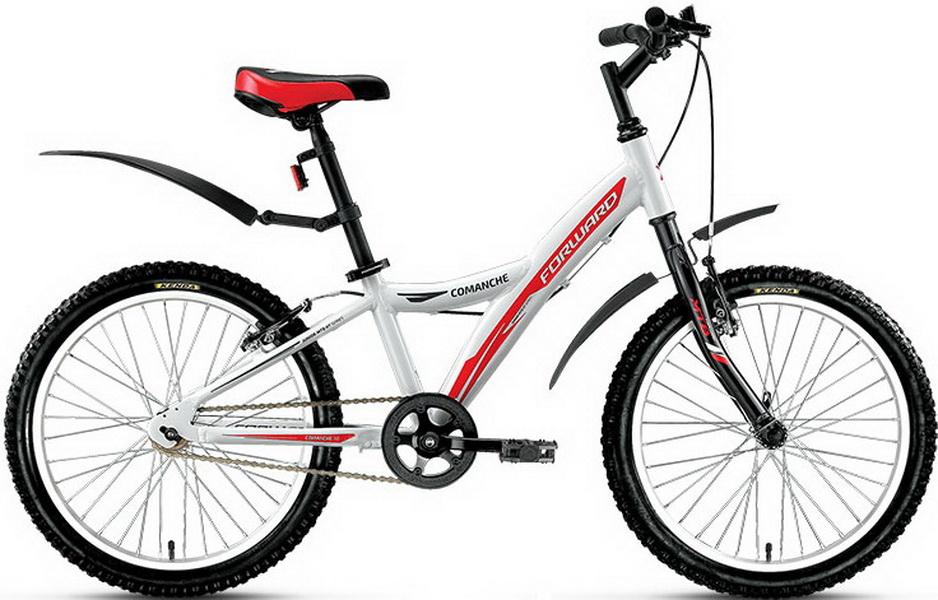 """Велосипед 20"""" Forward Comanche 1.0 1ск, алюминиевая рама, V-br, белый"""