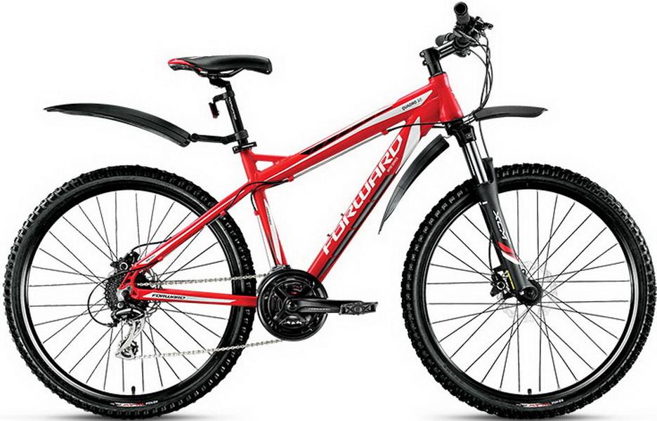 """Велосипед 26"""" Forward Quadro 3.0 (17"""") 24ск, AL, Disc, красный"""