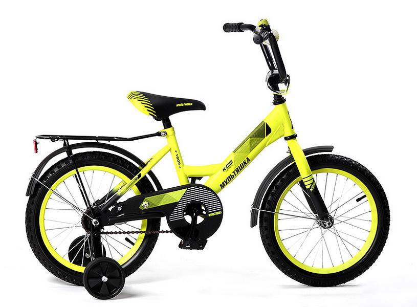 """Велосипед 12"""" Мультяшка XB1205 жёлтый, 2017г."""