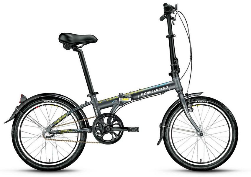 """Велосипед 20"""" Forward Enigma 3.0 3ск, складной, AL, V-br + ножной, серый, 2017г."""