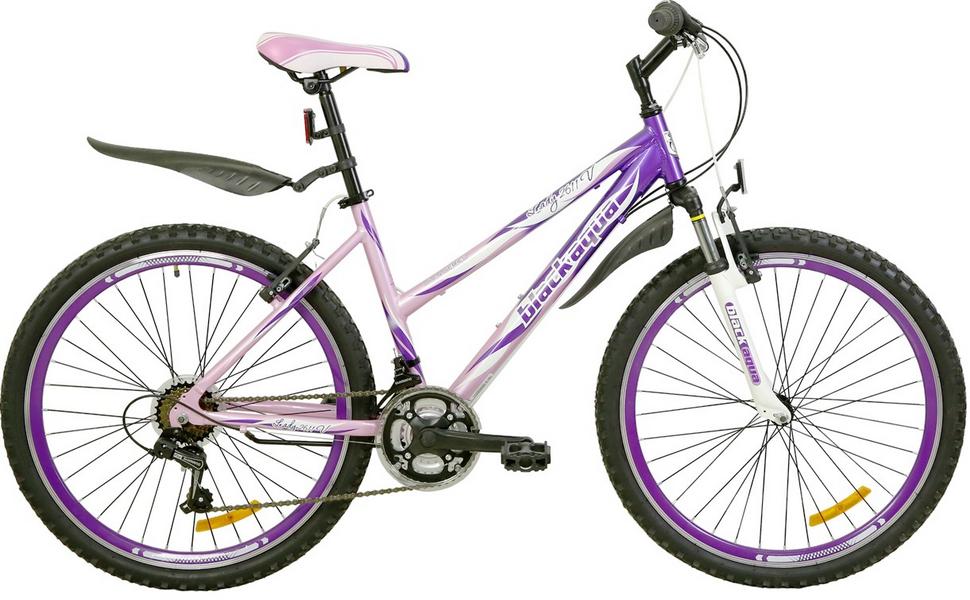 "Велосипед 24"" Black Aqua Lady 2411 V GW-B504 18ск, алюминиевая рама, V-br, розово-фиолетовый, 2017г."