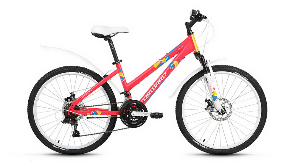 "Велосипед 24"" Forward Iris 2.0 18ск, St, Disc, розовый, 2018г."