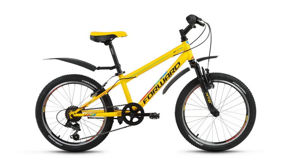 "Велосипед 20"" Forward Unit 2.0 6ск, St, V-br, жёлтый, 2018г."