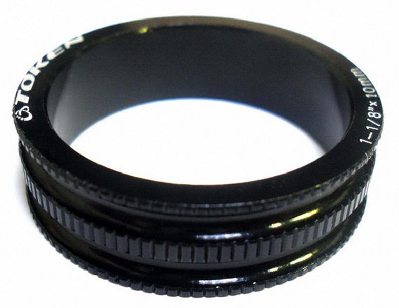 """Кольцо рулевой колонки 1-1/8"""" Н=10мм Token TKA-1231 облегчённое, AL, чёрное"""