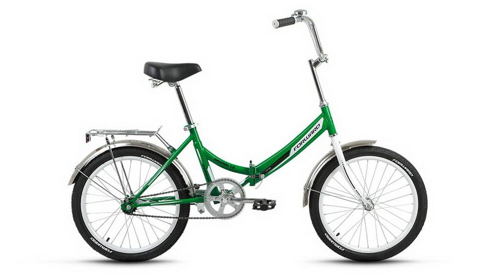 """Велосипед 20"""" Forward Arsenal 1.0 складной, St, зелёный,"""