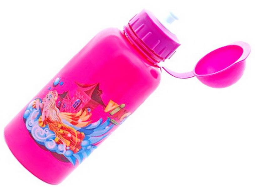 """Фляга  (500ml) Vinca Sport, VSB 03, детская, с колпачком, розовая, рисунок """"принцесса"""""""