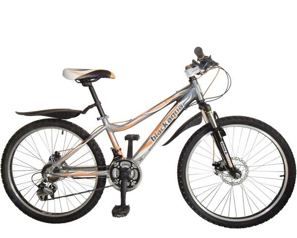 """Велосипед 24"""" Black Aqua Cross 2421 D GW-B222D 18ск, алюминиевая рама, Disc, серо-оранжевый"""