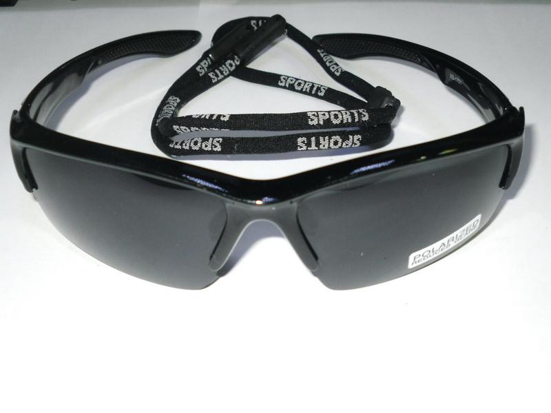 Велоформа Очки Cigna XS-1701, оправа чёрная, линзы поликарбонат UV400 - серые полиризованные