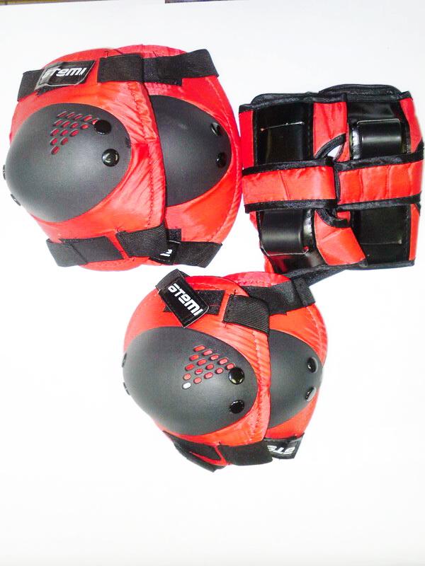 Велоформа Защита взрослая APS-01, р.L, набор (колени+локти+кисти), красно-чёрная   ч