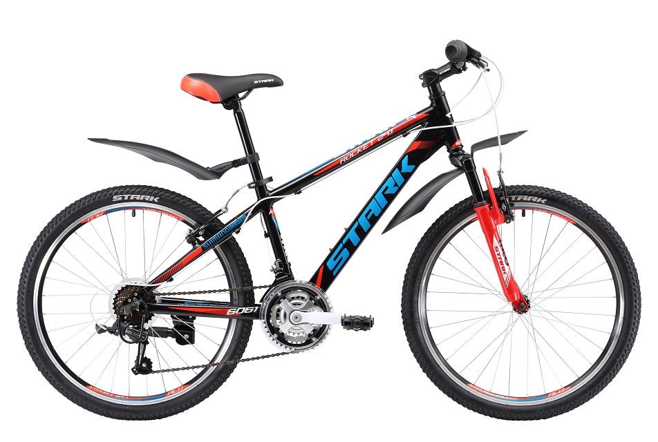"""Велосипед 24"""" Stark Rocket 24.1 V, 21ск, AL, V-br, чёрно-красный, модель 2017"""
