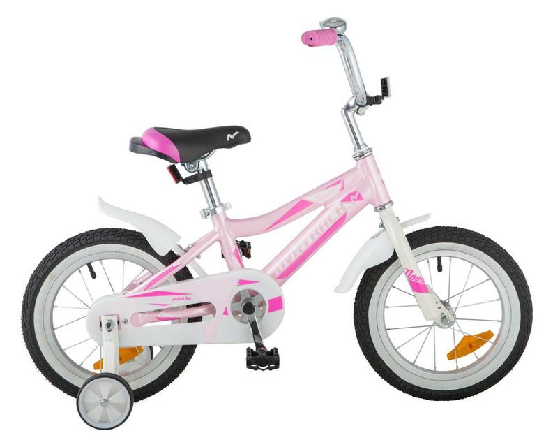 """Велосипед 14"""" Novatrack Novara, алюминиевая рама, розовый"""