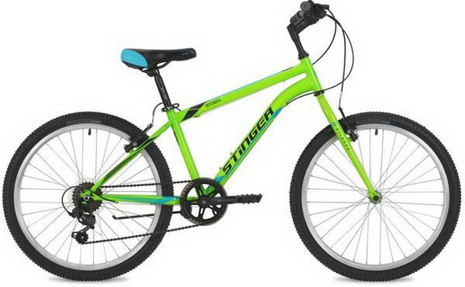 """Велосипед 24"""" Stinger Defender (12.5"""") 6ск, AL, V-br, зелёный"""