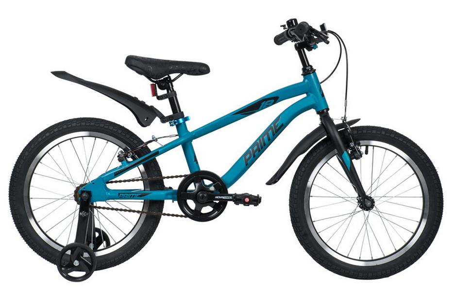 """Велосипед 18"""" Novatrack Prime, алюминиевая рама, V-br, синий"""
