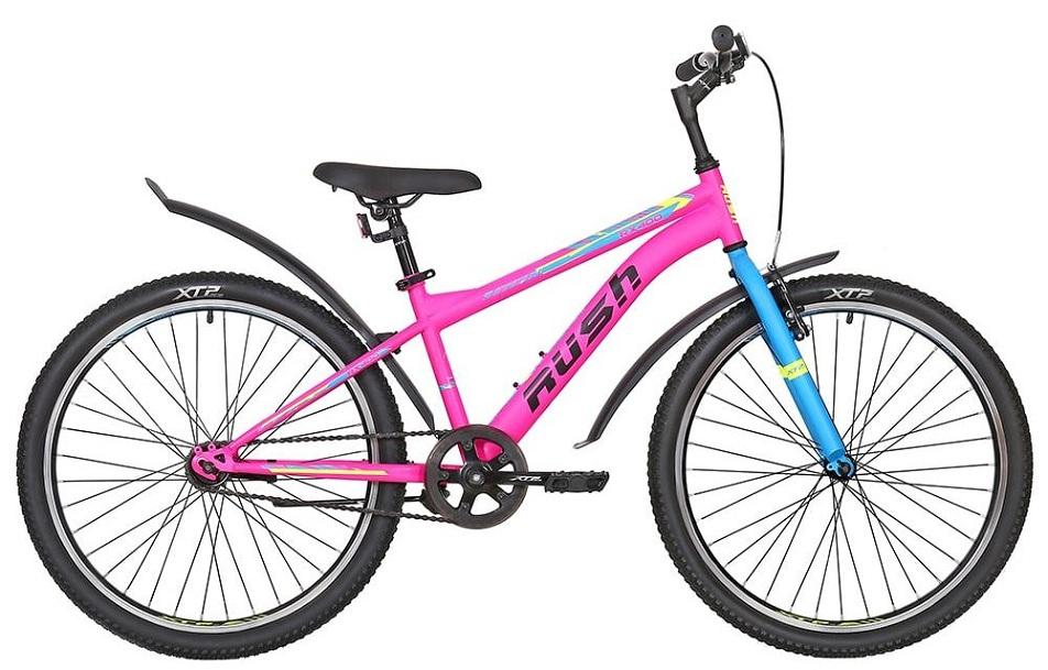 """Велосипед 24"""" Rush Hour RX 400 (13"""") 1ск, St, розовый, 2021г.   скидка 20%"""