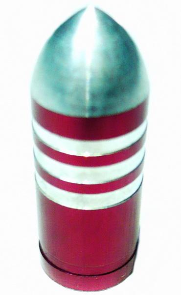 Колпачок (декоративный) A/V AL Primeaero, NZ-B3, пуля красная с проточками  *