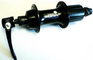 Втулка ROAD задняя 36Н, OLD-130мм, Ø10мм, QR, под кассету, Shimano, FH-3500, Sora, 8-10ск., чёрная