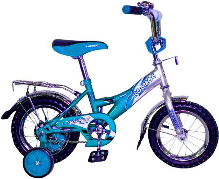 """Велосипед 12"""" Космос В1207 бирюзовый"""