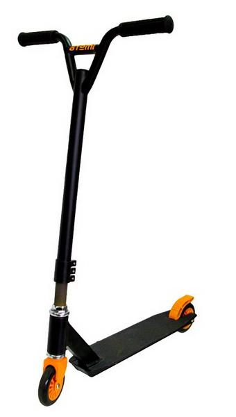 Самокат Atemi ASTS-100-7A (KickScooter), трюковый, 100кг, чёрно-красный