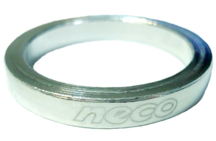 "Кольцо рулевой колонки 1-1/8"" H=5мм Neco AS3605 AL, серебристое"