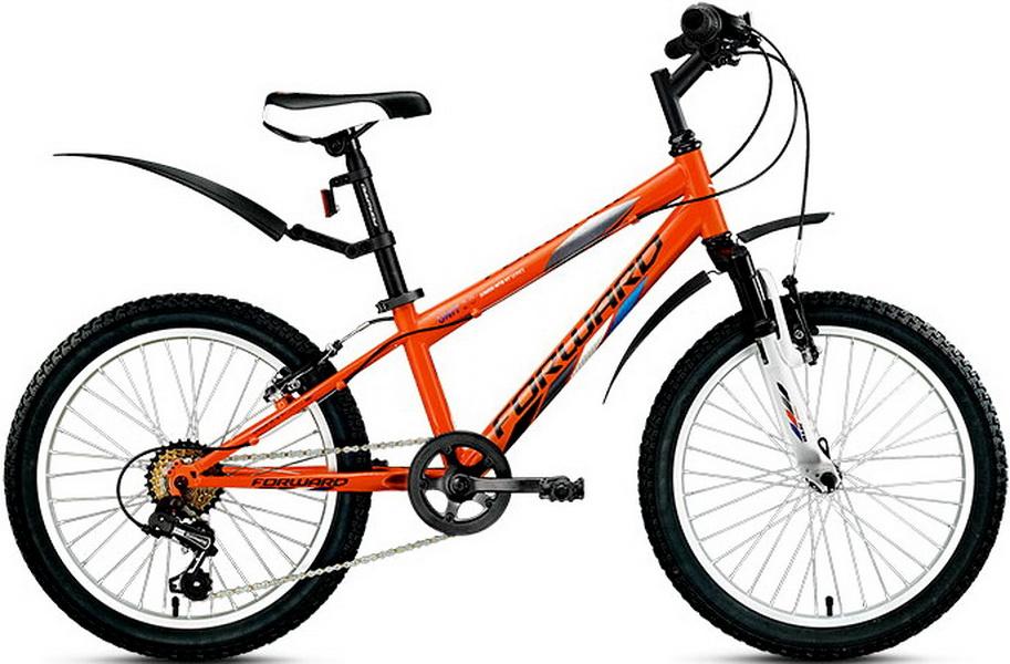 "Велосипед 20"" Forward Unit 2.0 6ск, St, V-br, оранжевый"