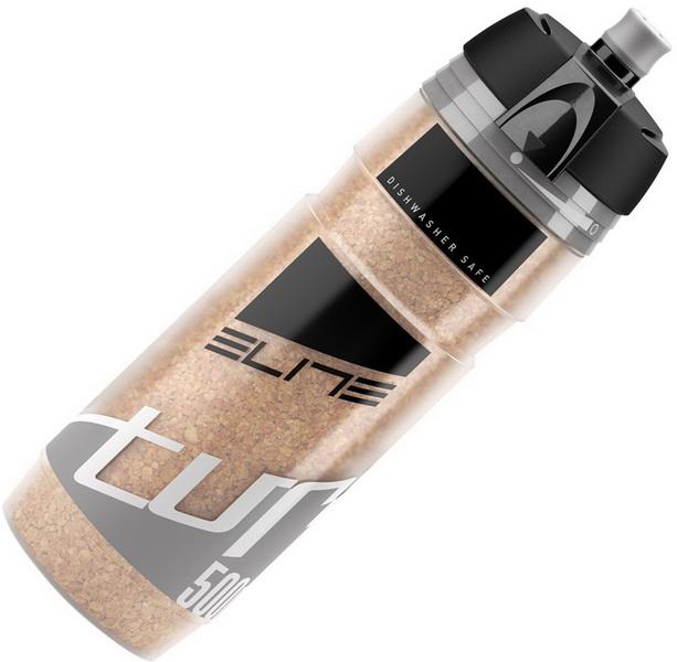 Фляга  (500ml) Elite, Turacio, EL0141306, термо 3 часа, мембранный клапан, наполнитель из пробки дерева, серая