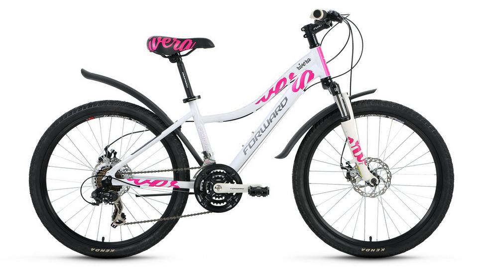 """Велосипед 24"""" Forward Rivera 2.0 18ск, алюминиевая рама, Disc, белый"""