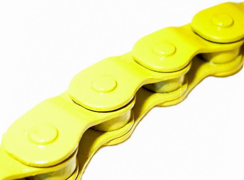 """Цeпь BMX 100зв.1/2""""х1/8"""" YBN MK918, Half-Link, жёлтая   а"""