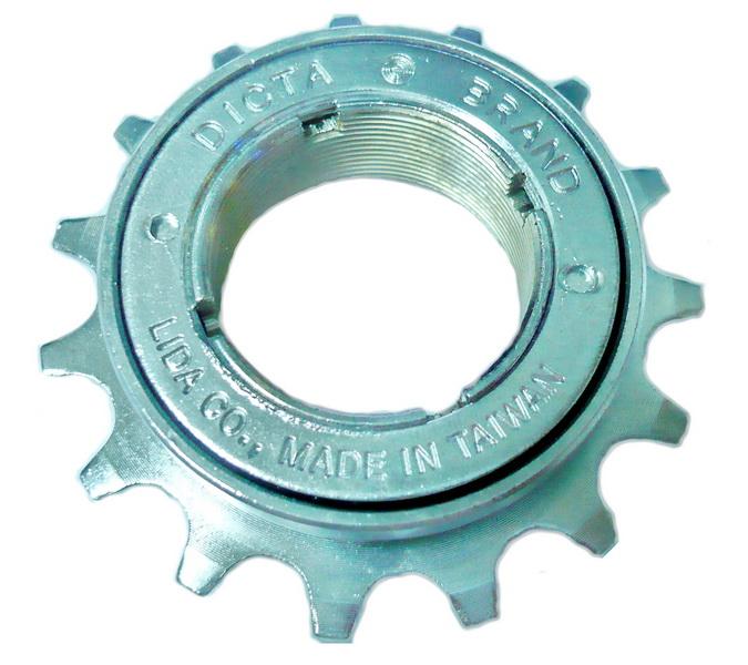 """Звезда BMX трещетка 15T 1/2""""х3/32"""" Ø30мм Lida LMA-0 (под 4-х шлицевой съемник), хромированная   а"""